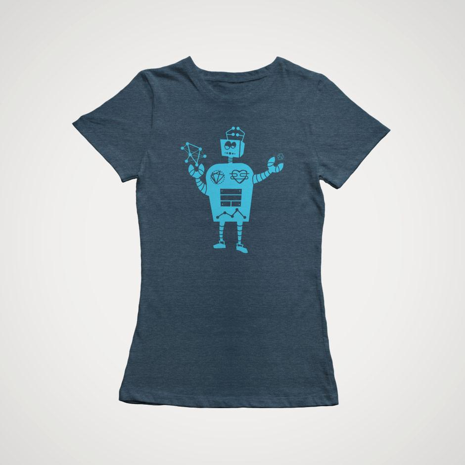 Elasticsearch Robot T-Shirt - Fitted
