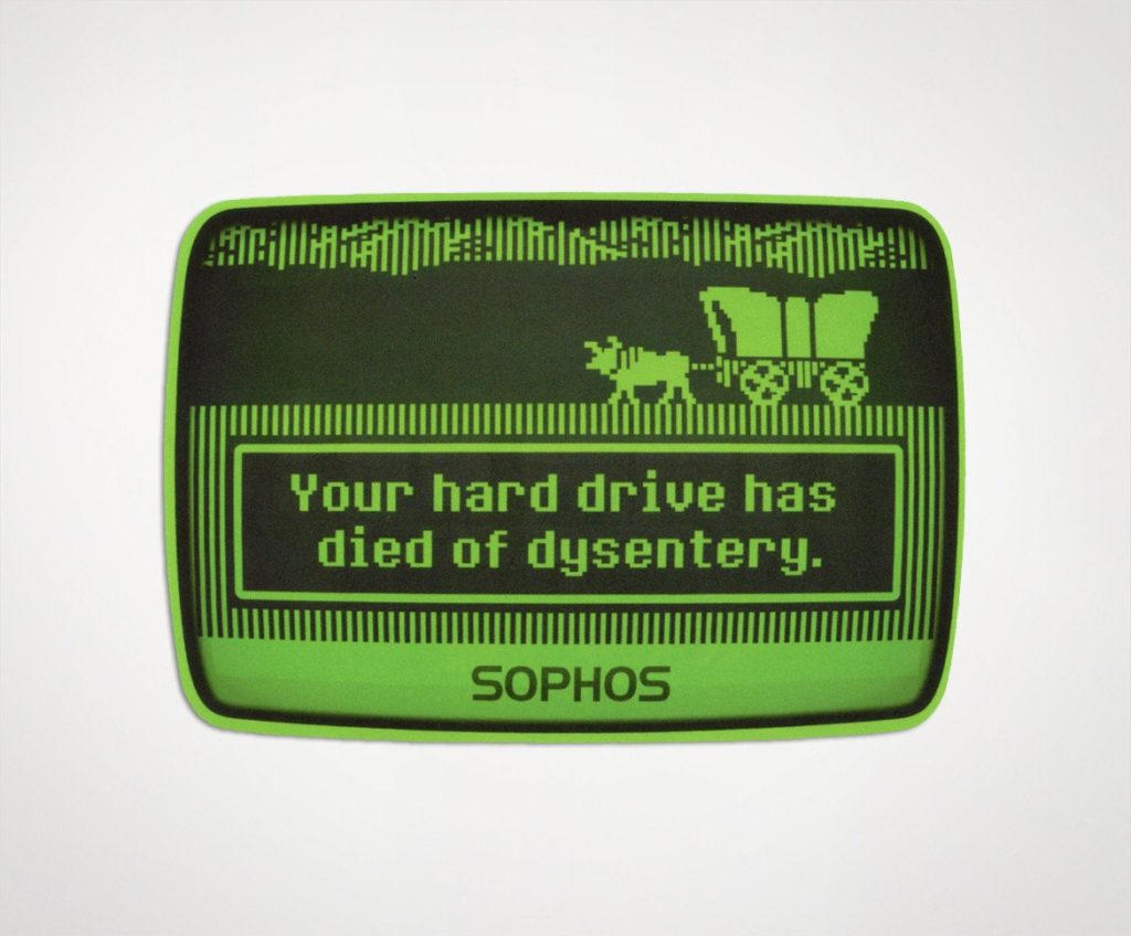 "Sophos ""Oregon Trail"" Laptop Sticker"
