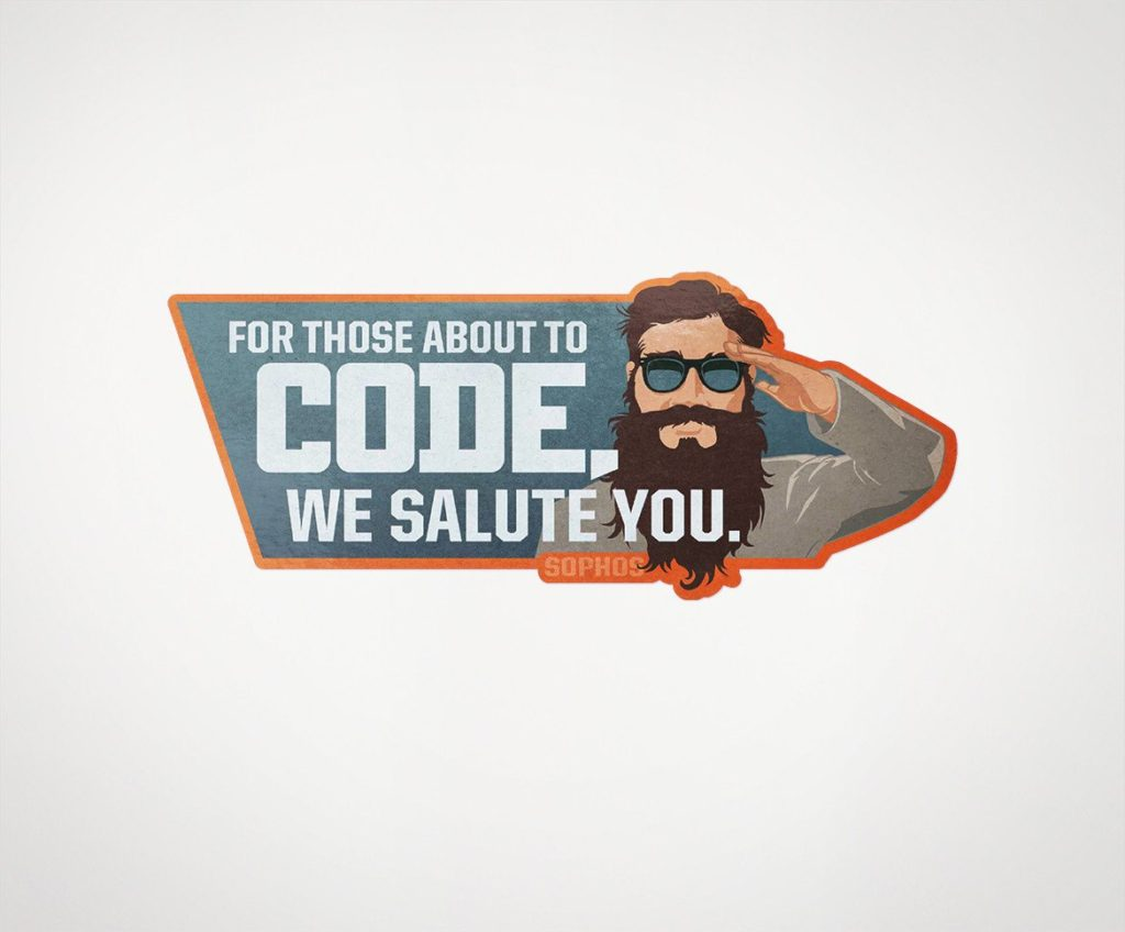 "Sophos ""We Salute You"" Laptop Sticker"