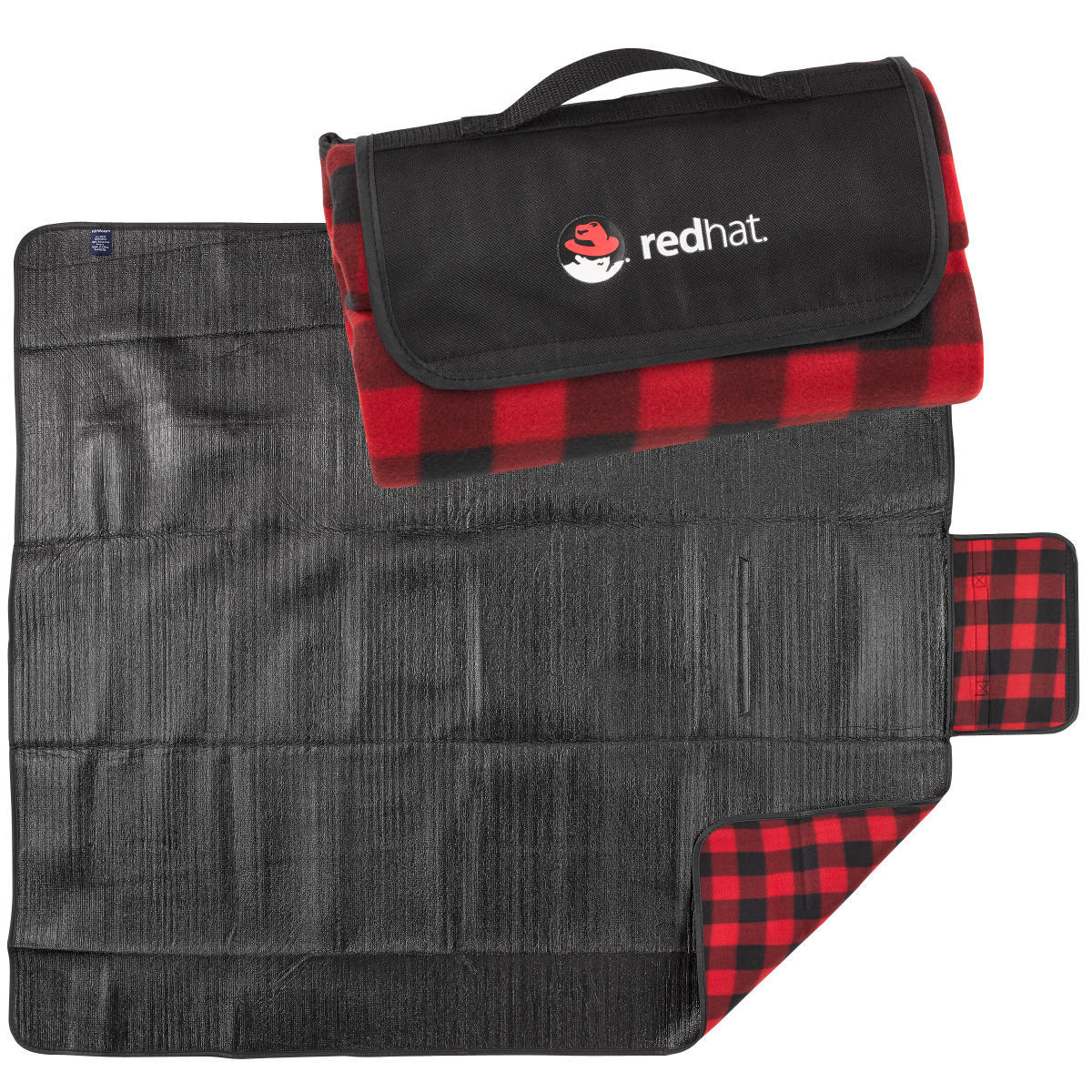 Red Hat Roll-up Picnic Blanket